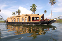 Luxury houseboat on backwaters of Kumarakom